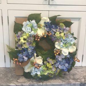 "Brand new 22"" Hydrangea and berry wreath"